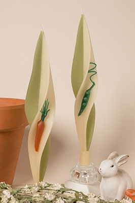 Spring Vegetable Candles-twisted beeswas candles