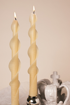 Twisted Ivory Spirals-twised Beeswax Candles