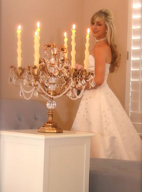 wedding 2-twised Beeswax Candles